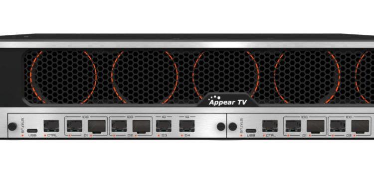 Appear tv: la piattaforma encoder X consuma 35 W per codificare un canale 4K live su HEVC